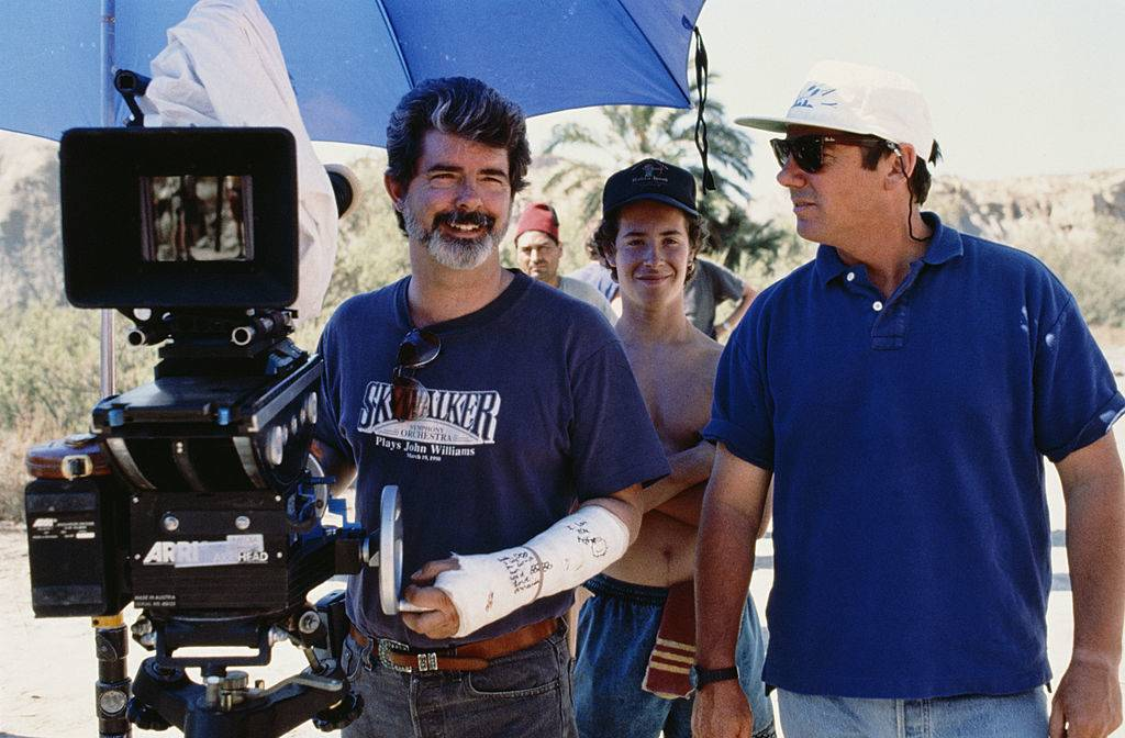 George Lucas behind the camera
