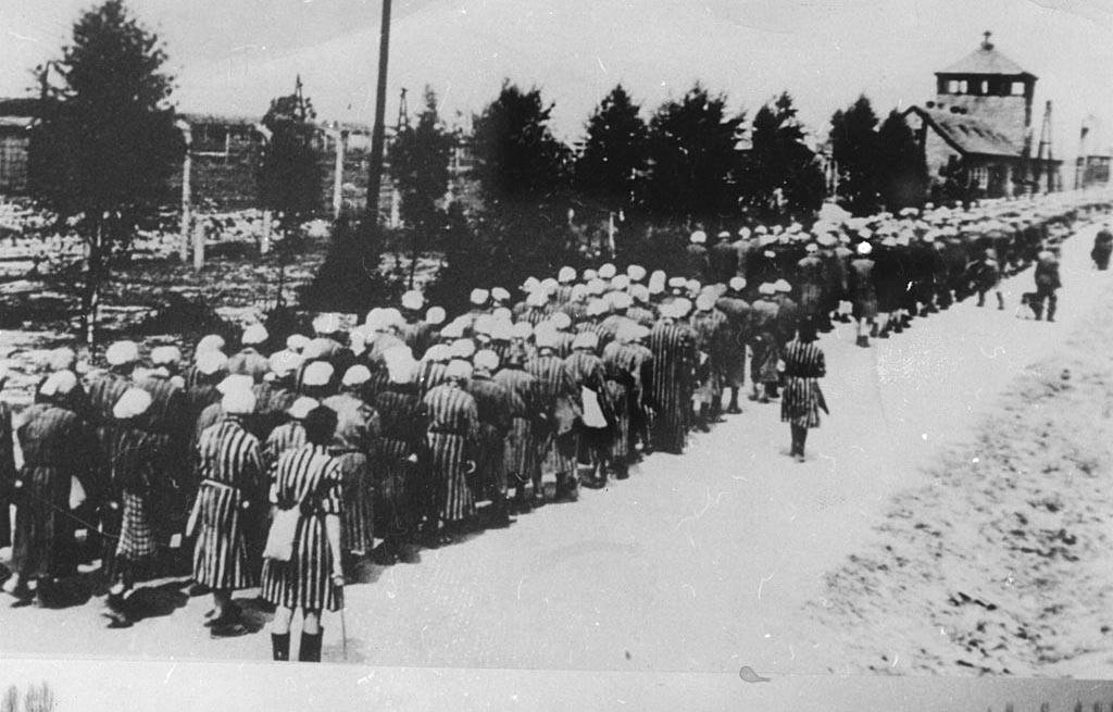 Prisoners lined up