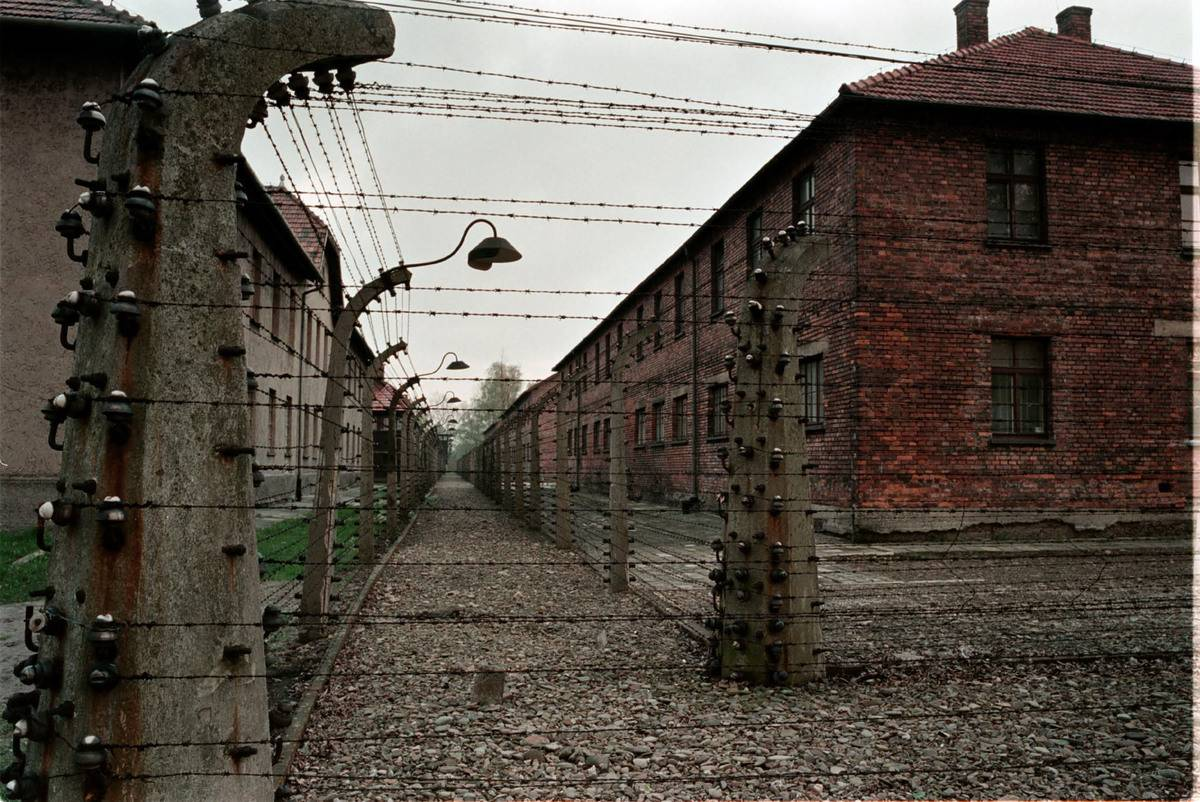 Barbed-Wire Closes In The Auschwitz Concentration Camp