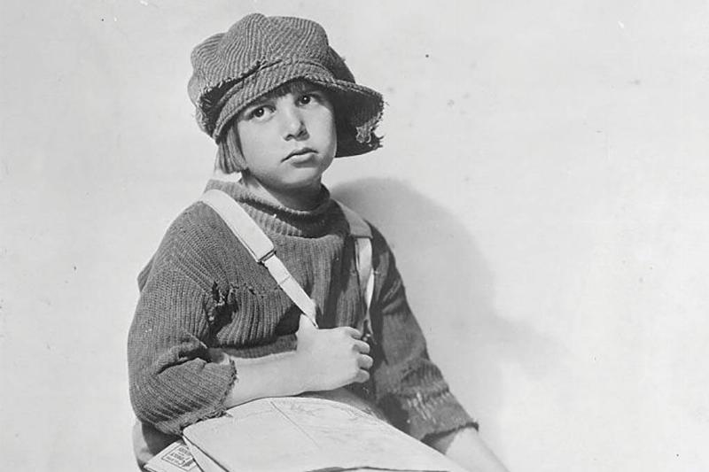 Jackie Coogan as a boy