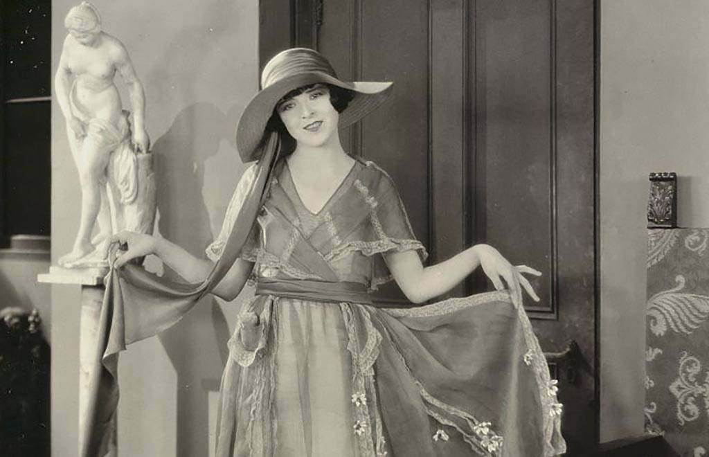 Colleen Moore in a dress