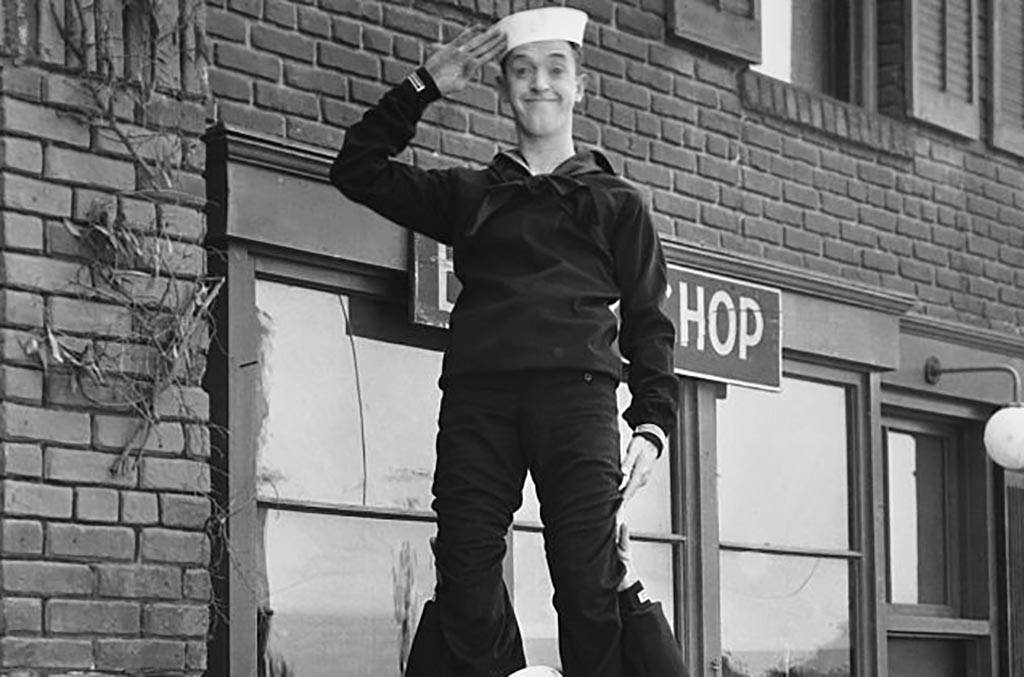 Stan Laurel in a sailors outfit