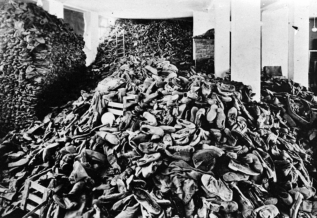 Piles of shoes