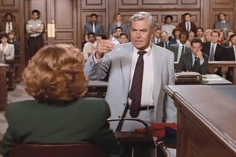 Matlock in a courtroom