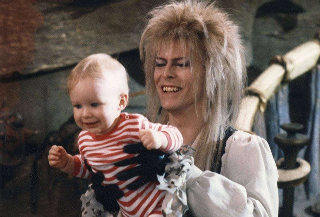 Bowie holding Toby