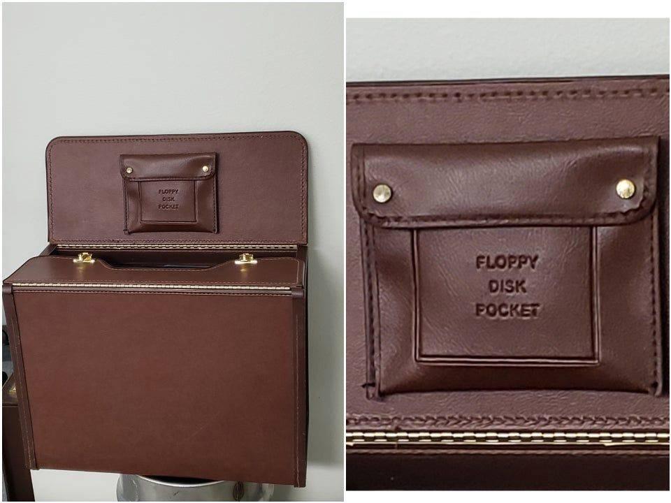 briefcase floppy pocket