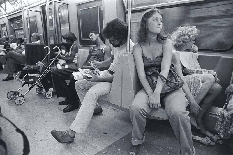 Passengers ride the Lexington Avenue IRT Line in the New York subway system.