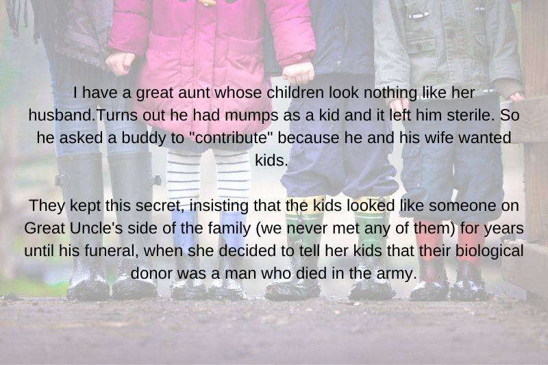kids found out their biological dad was a family friend because their parents couldn't have kids