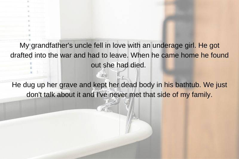 someone kept a person in their bathtub after they died