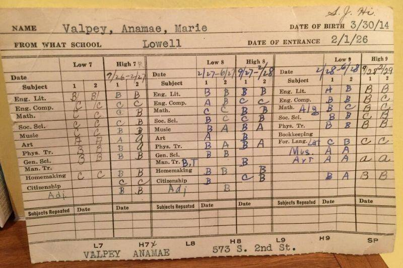 a report card from over 100 years ago