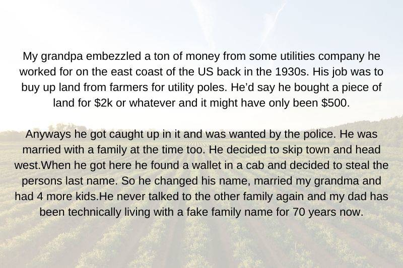 story about someone who embezzled from a company in the 1930s