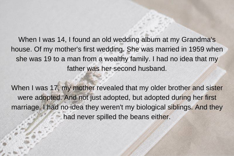 someone found out that their mom was married before