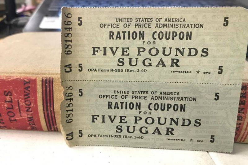 ration coupons from WWII
