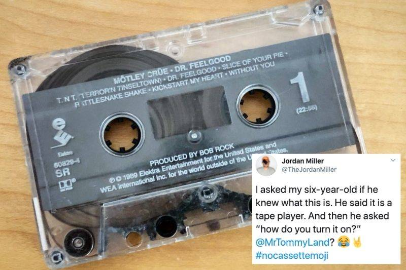 Tweet: I asked my six-year-old if he knew what this is. He said it was a tape player. And then he asked how do you turn it on?