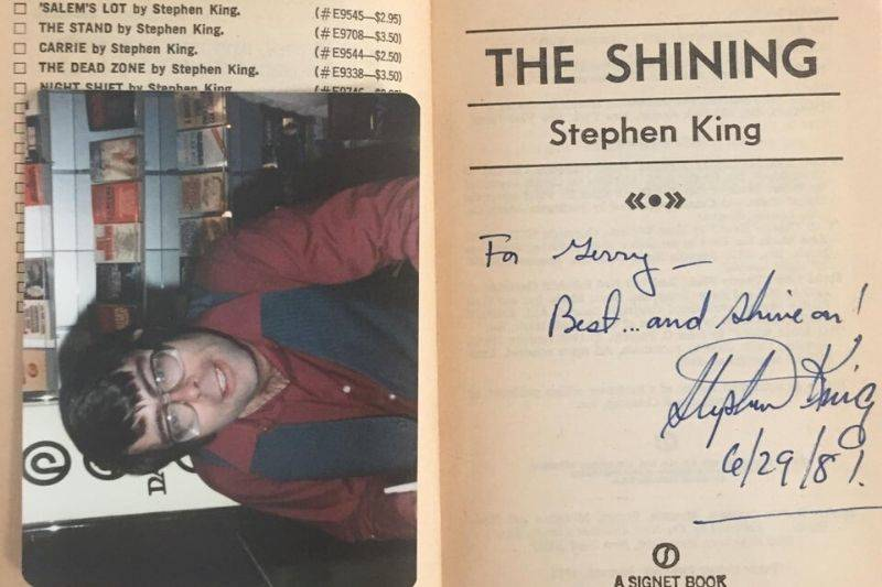 a signed copy of The Shinning