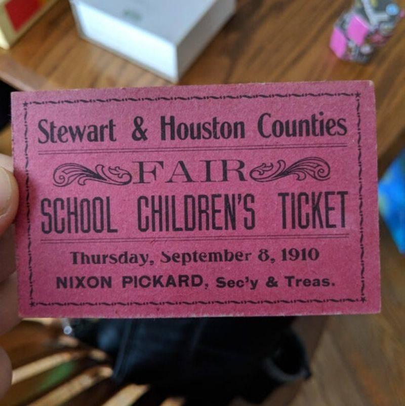 a children's fair ticket