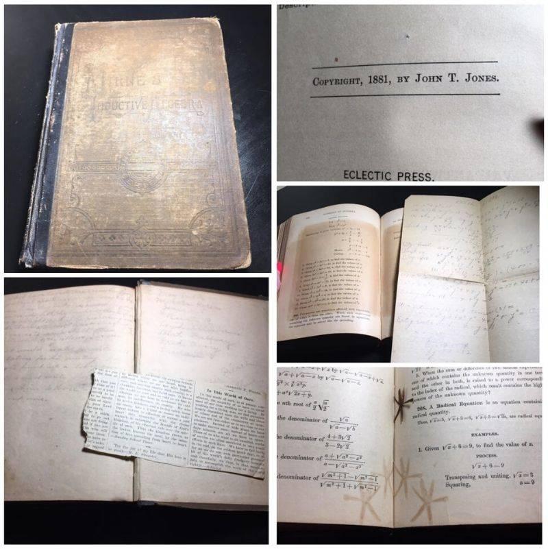 an algebra book from 1881
