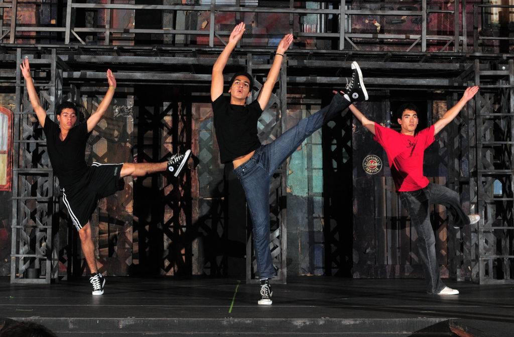 Performers dancing