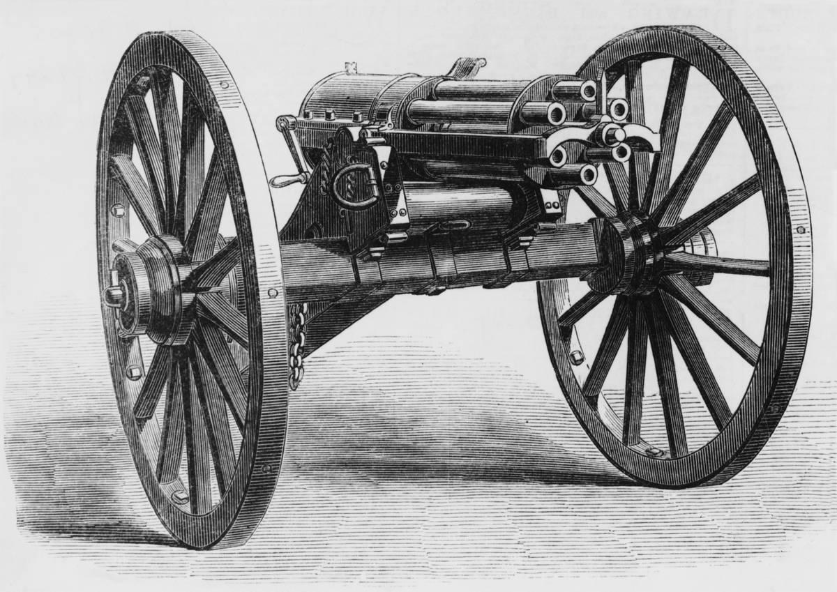 A Gatling gun