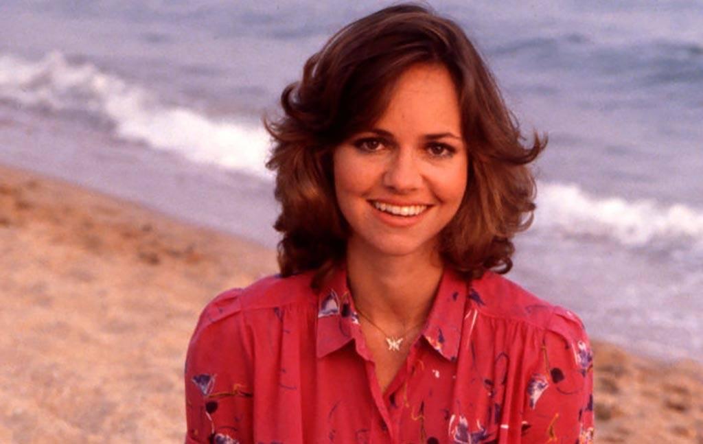 Sally Field on the beach