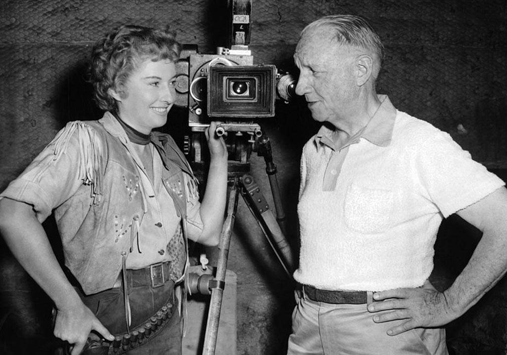 On the set of the Cattle Queen of Montana