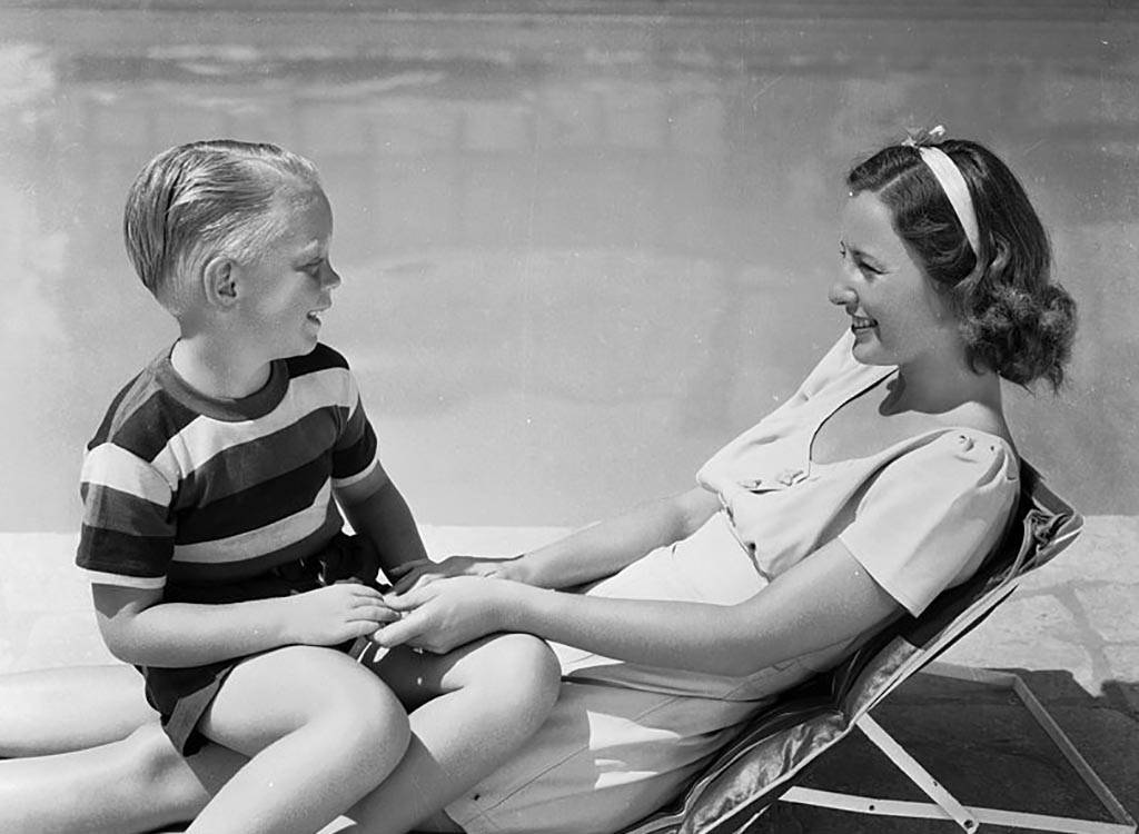 Stanwyck and her son