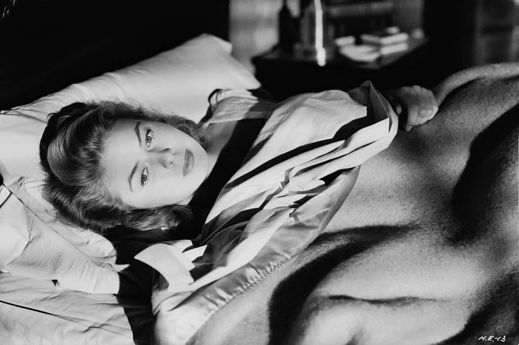 Ingrid Bergman in bed