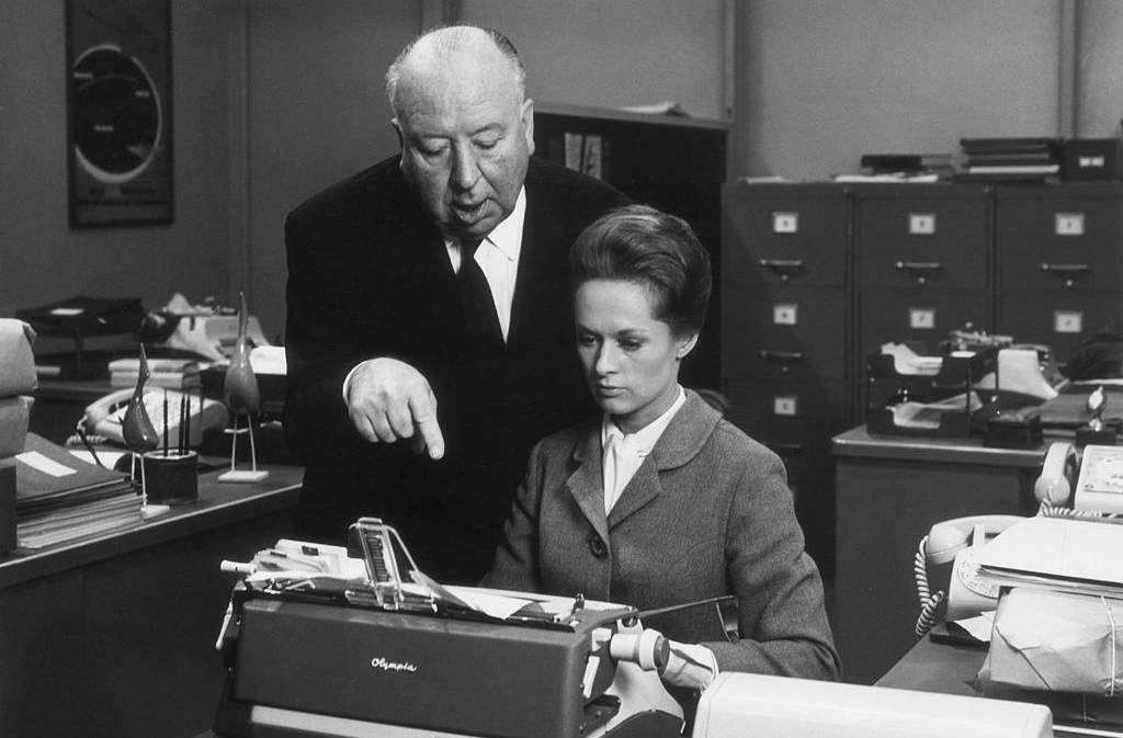 Hedren and Hitchcock