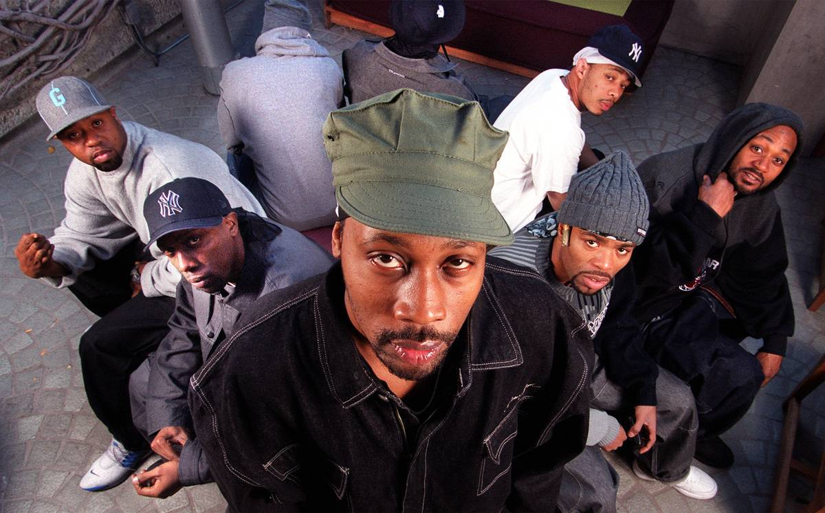 RZA, center, with his clan members