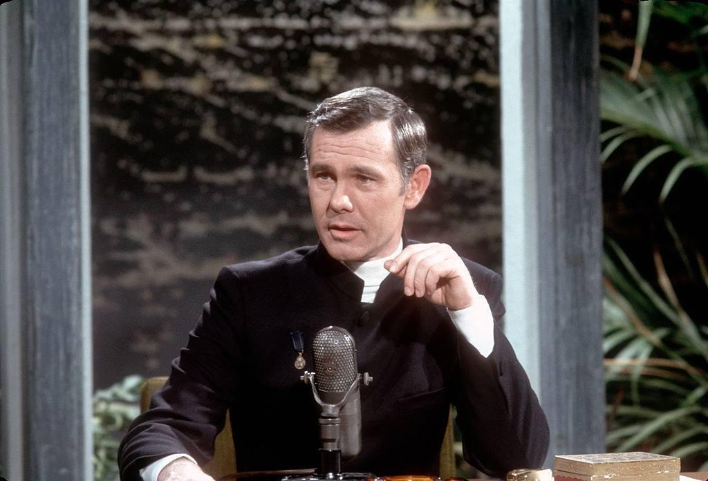 Johnny Carson hosting
