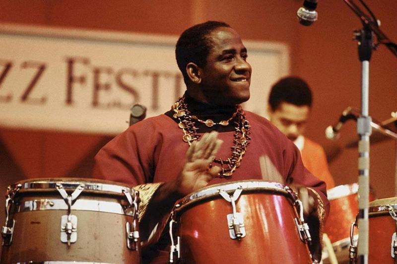 Mongo Santamaria playing