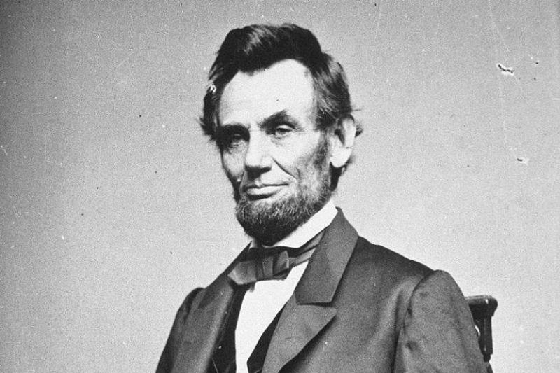 Portrait of 16th United States President Abraham Lincoln.