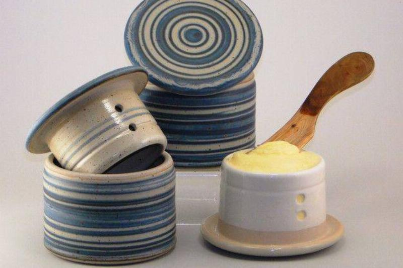 French Butter Dishes Kept Butter At The Perfect Temperature