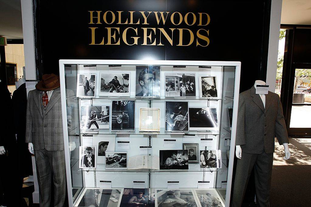 James Dean items seen on display