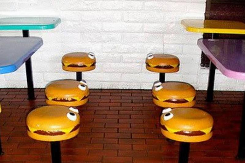 Hamburger stools