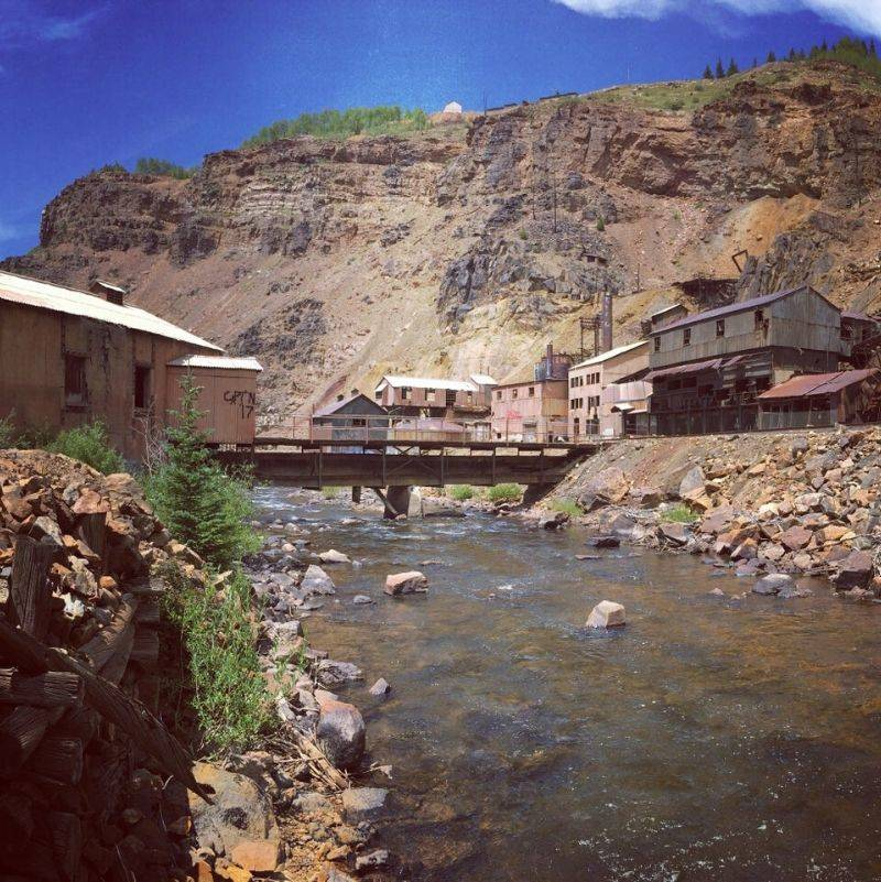 an old mine near a river