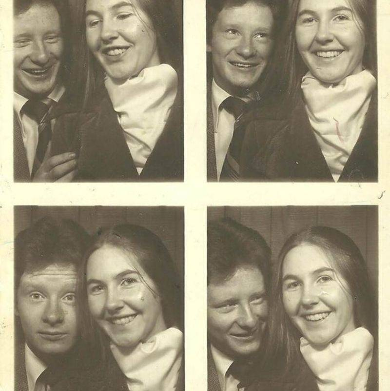 someone found some photo booth pictures
