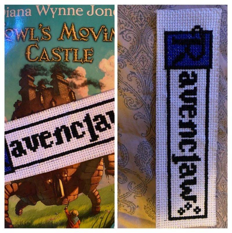 someone finds a homemade Ravenclaw bookmark