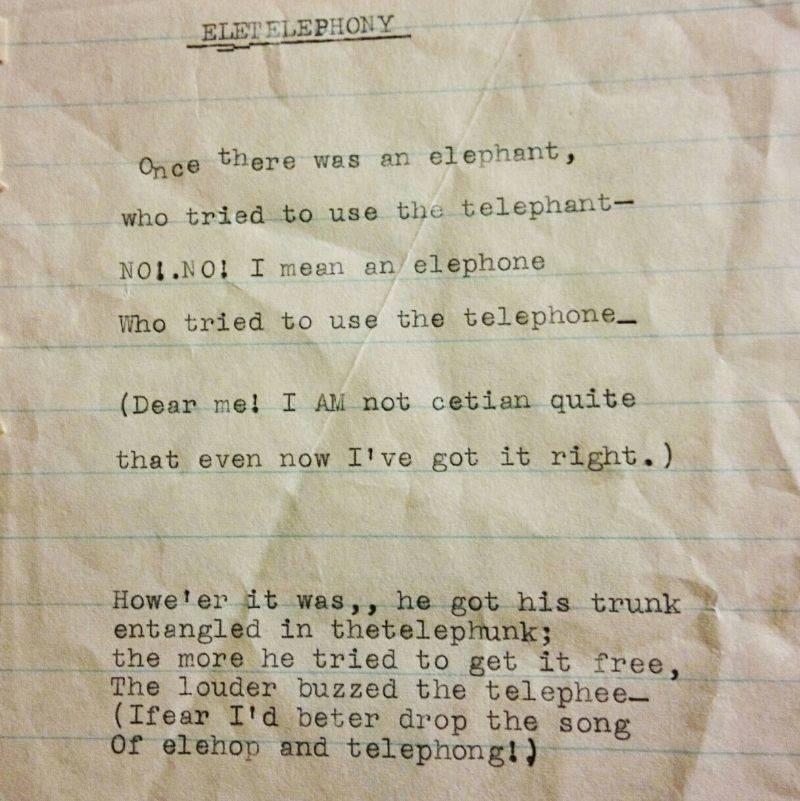 a poem someone found in a book