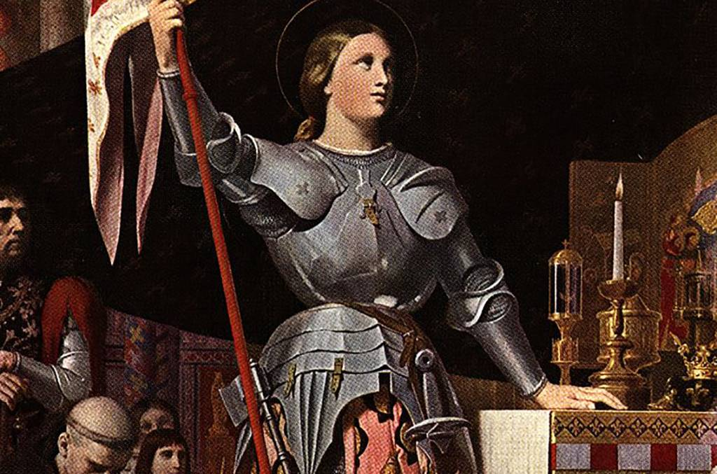 Joan of Arc with flag