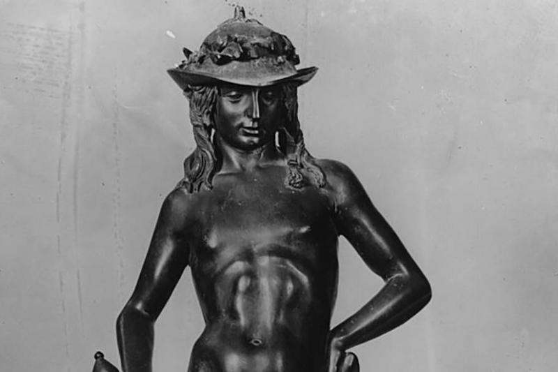 Bronze statue of David