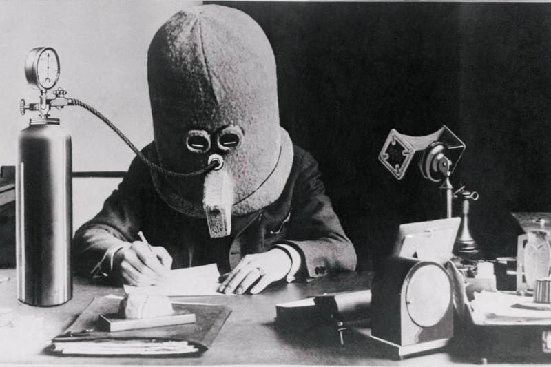 Here is a pictured Hugo Gernsbach, wearing what he calls his