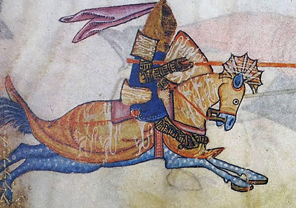 Saladin on a horse