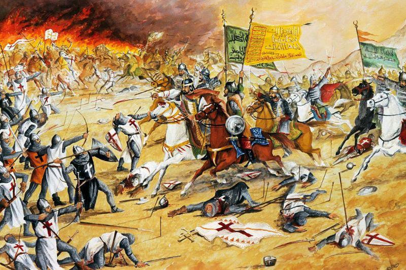 Painting of the Battle of Hattin