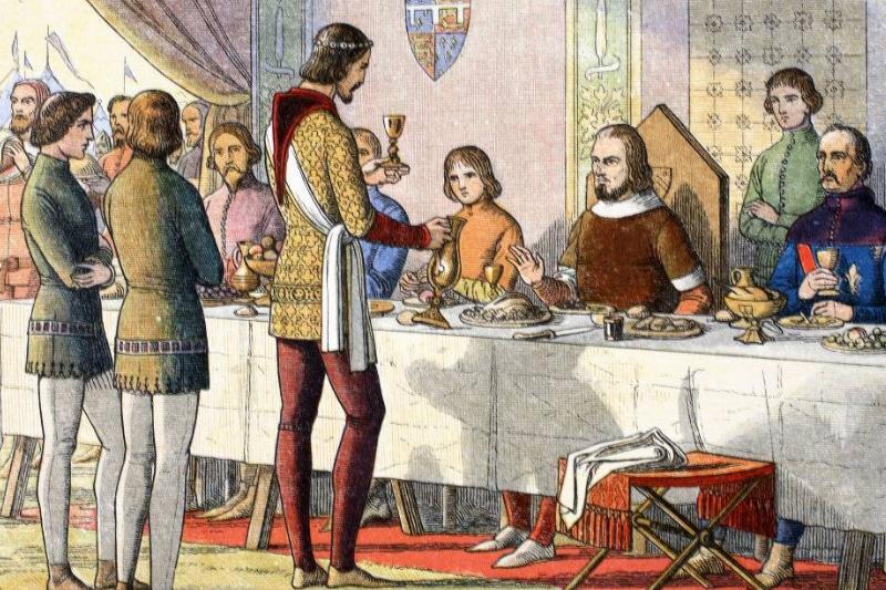 William serving a goblet
