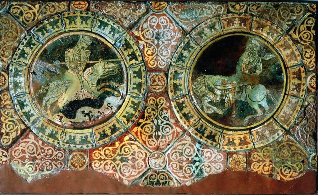Mosaic of Saladin and Richard the Lionheart