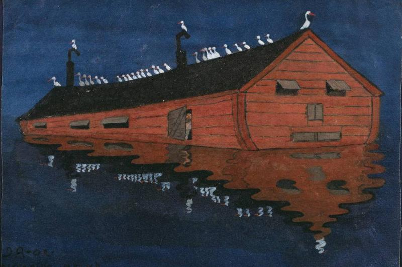 Painting of an ark