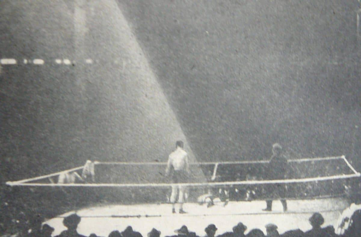 A light shines on boxer Luther McCarthy as he lay dying.