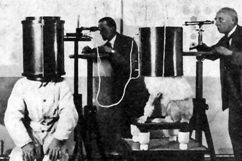 A 1920s experiment tries to detect dog telepathy.