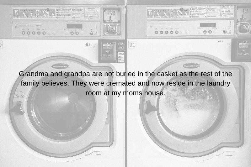 urns in the laundry room family secret
